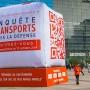 Un QR code géant pour l'Enquête Transports Paris La Défense